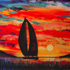 art classes byron bay sunset sailing