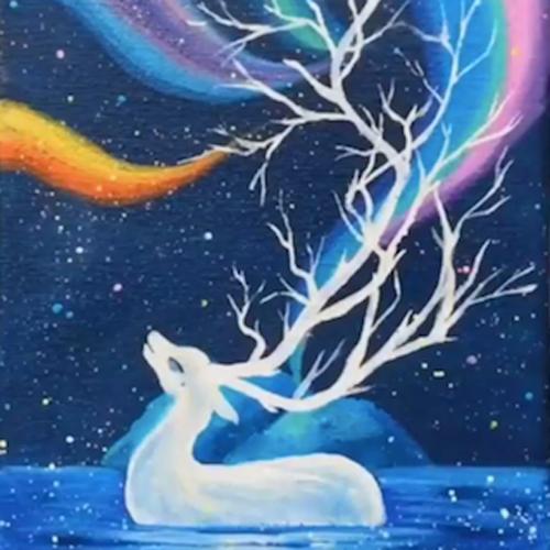 art classes byron galaxy deer