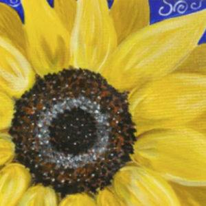 art and wine byron bay sunflower