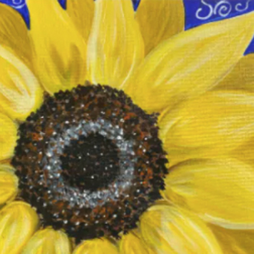 art and wine byron bay sunflower